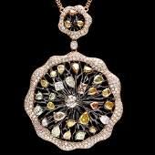 18k Rose Gold 8.8ct Diamond Necklace