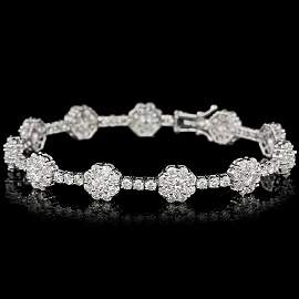 18k Gold 9.50ct F Vs Untreated Diamond Bracelet