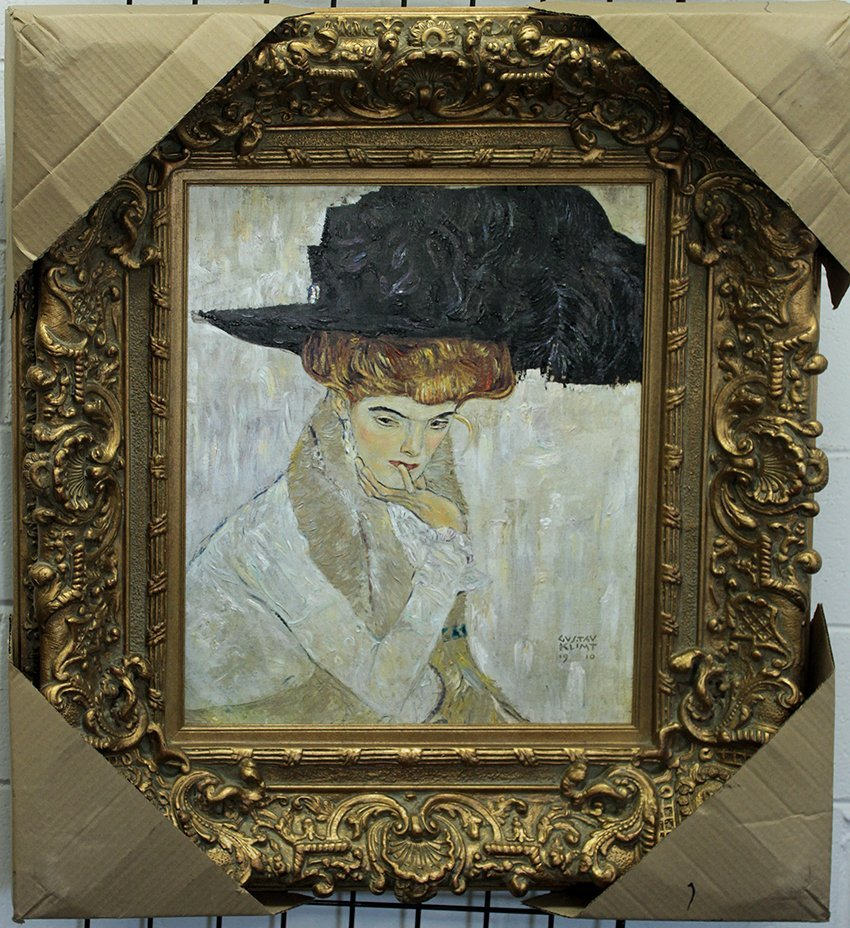 Lady with Hat - Gustav Klimt
