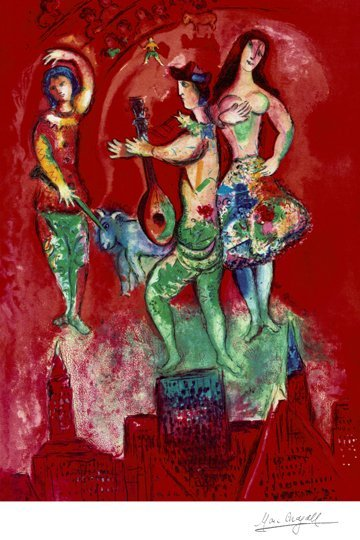 Marc Chagall- Limited Edition Giclee Lithograph- Carmen