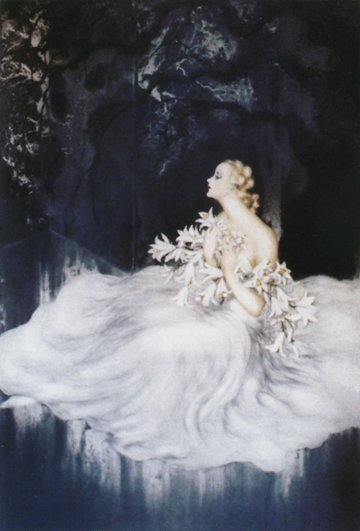 Louis Icart-Limited Edition Giclee-Lillies