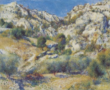 Pierre Renoir -Limited Ed Giclee Lithograph-Rocky Crags