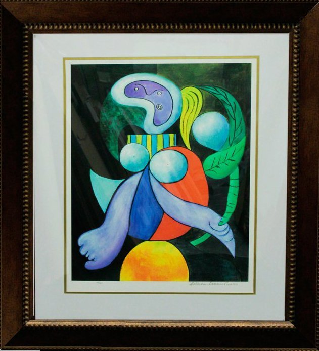 Pablo Picasso-Lim Ed Giclee Lithograph-Woman with Flowe