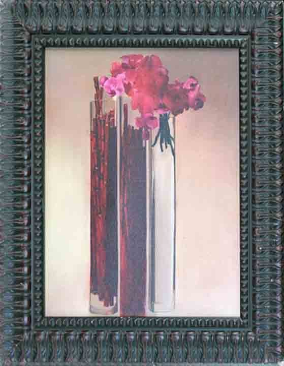 Romero-Pink Flowers of Love Lim Ed Giclee  Hand Signed