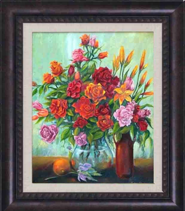 Arina-Original Oil Painting Hand Signed-Still Life with