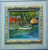 Hall, Jeanne. Original Oil Painting -Safe Harbor