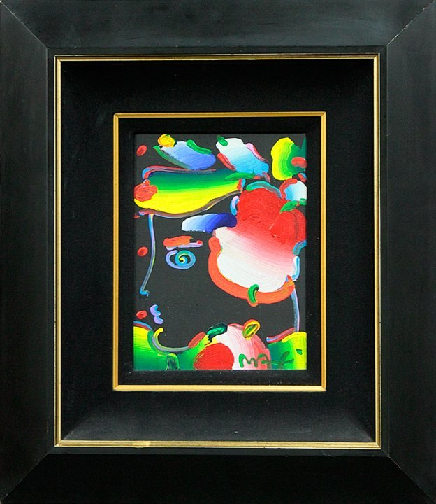 Peter Max -Original Oil Painting Flower Blossom Lady