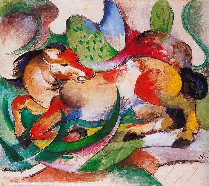 Franz Marc-Lim Ed Giclee Lithograph-Spring Ends