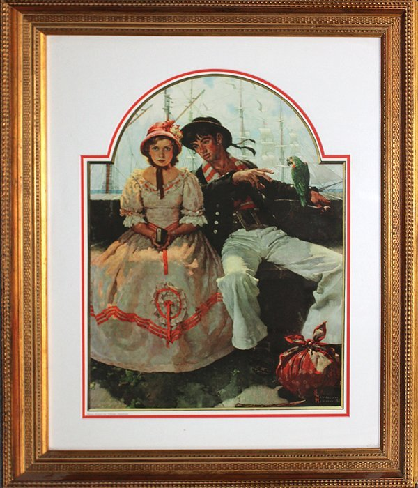 Rockwell-Limited Edition Collograph-The Sailor Girl