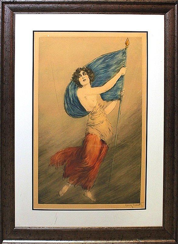 Louis Icart-Limited Edition lithograph-La Liberte