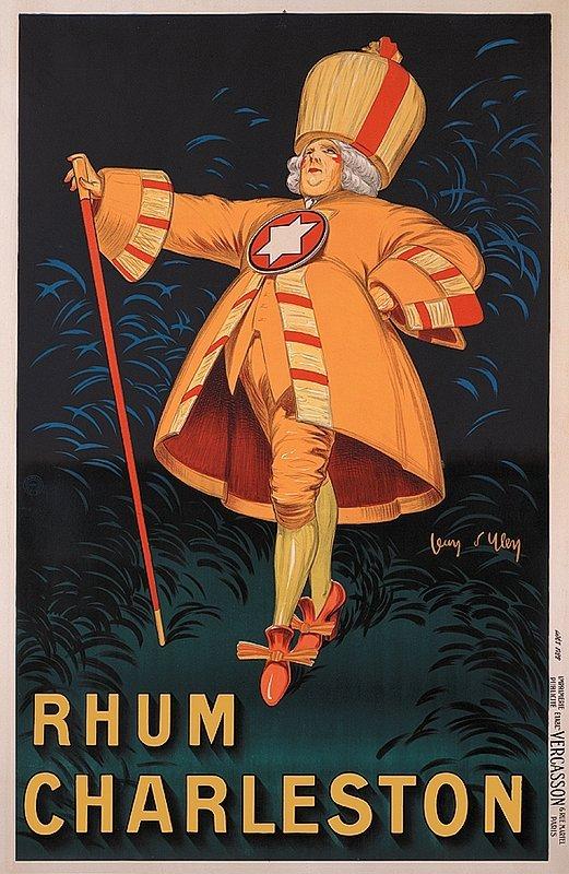 Vintage French Poster Rhum Charleston