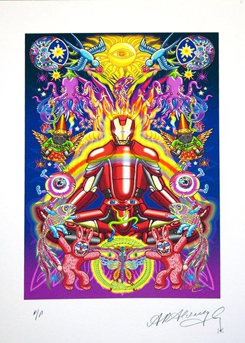 Alan Aldridge-Limited Edition A/P Hand Signed-Iron Man