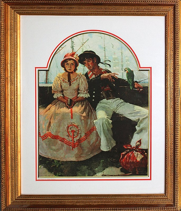 Norman Rockwell-Ltd Edition Collograph-The Sailor Girl