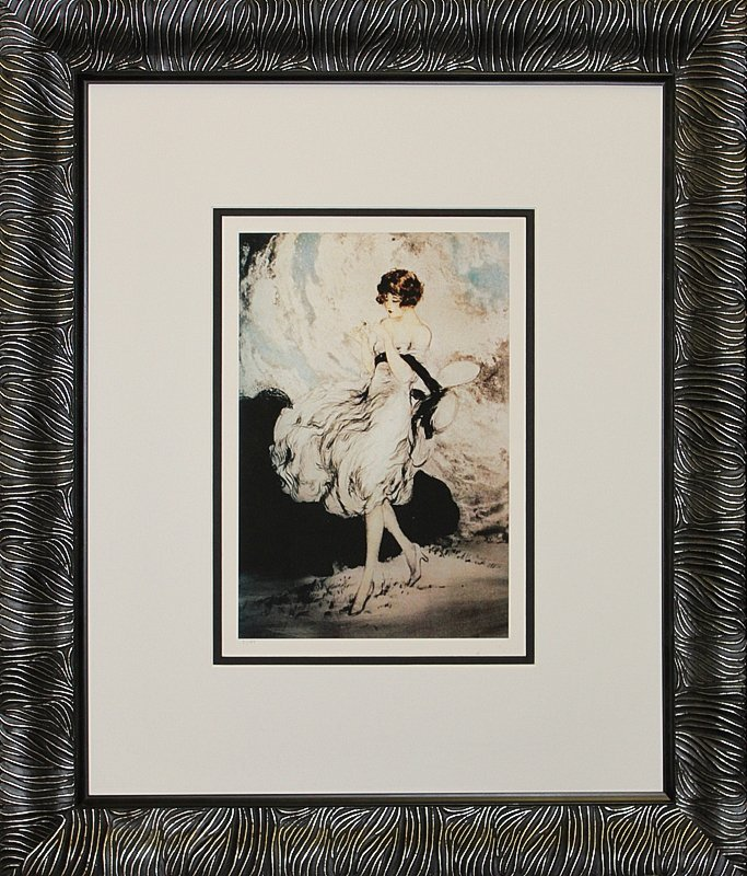 Louis Icart Limited Edition He Loves Me, He Loves Me