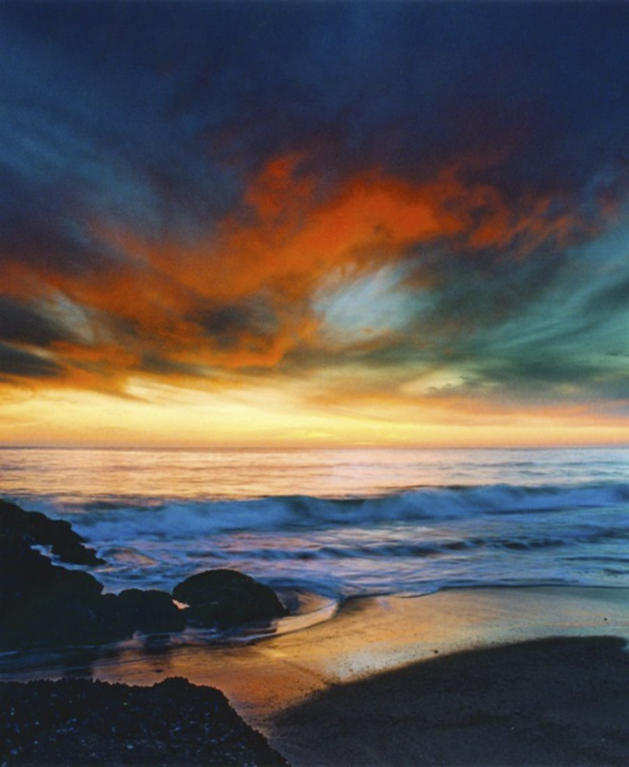 Nick Rodionoff-Coppery Sunset Over Blue Seas