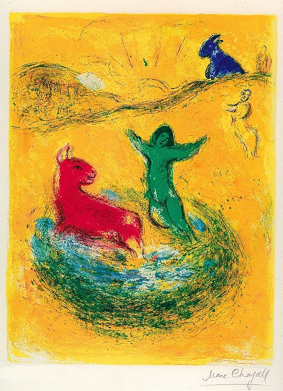 Marc Chagall Limited Edition Daphne &Chloe The Wolf Pit
