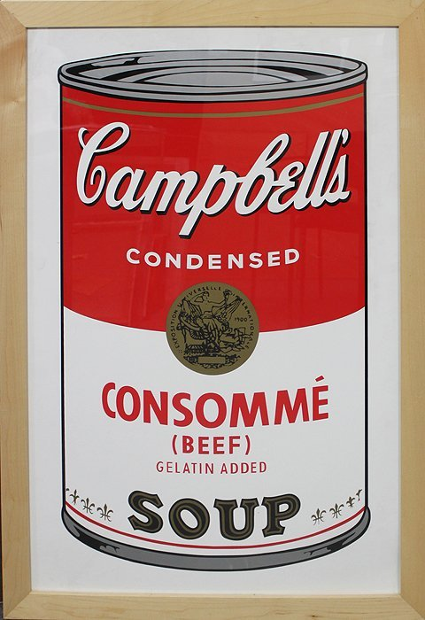 Andy Warhol-Serigraph-Campbell Soup Consomme