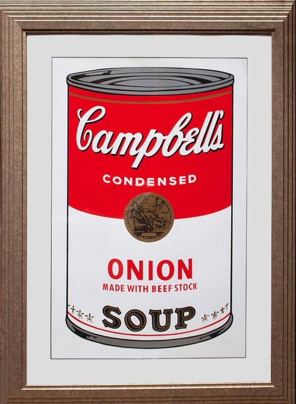 Andy Warhol Serigraph Campbells Soup Onion