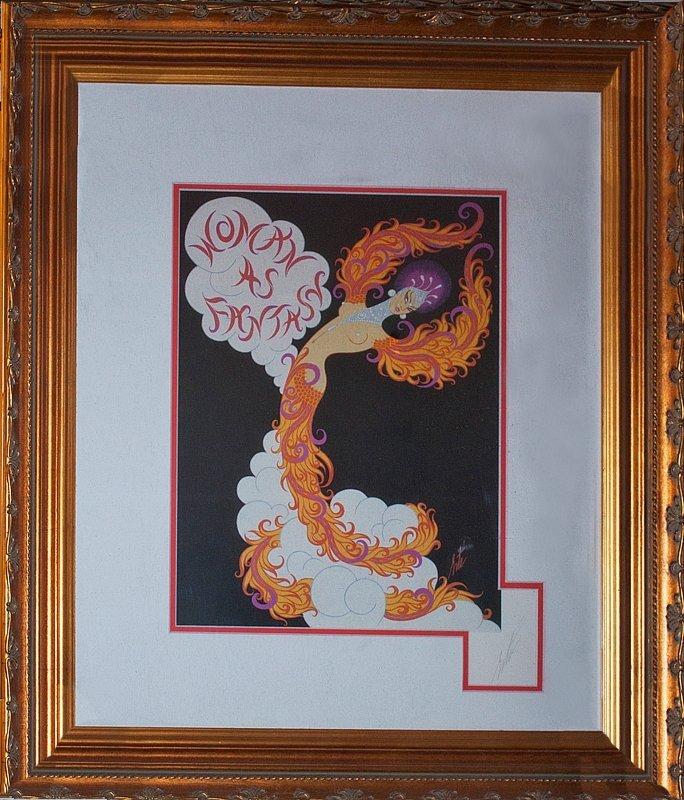 Erte  Lithograph Woman of Fantasy