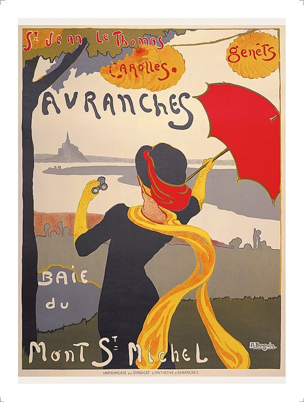 French Poster Mont St. Michel
