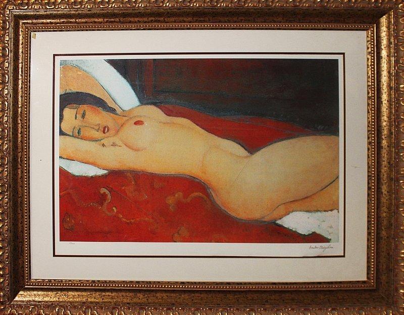 Modigliani Limited Edition Giclee Reclining Nude