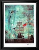 Salvador Dali Discovery of America Hand Signed Lithogra