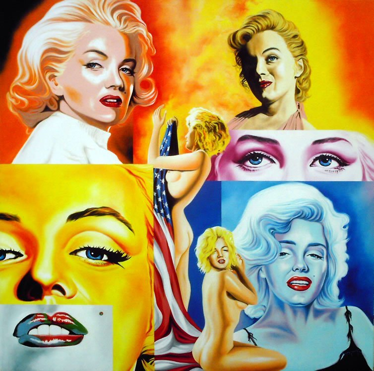 Hector Monroy Original Oil Marilyn Monroe the Goddess