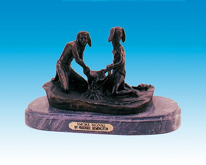 Frederic Remington Bronze Sculpture Smoke Signal