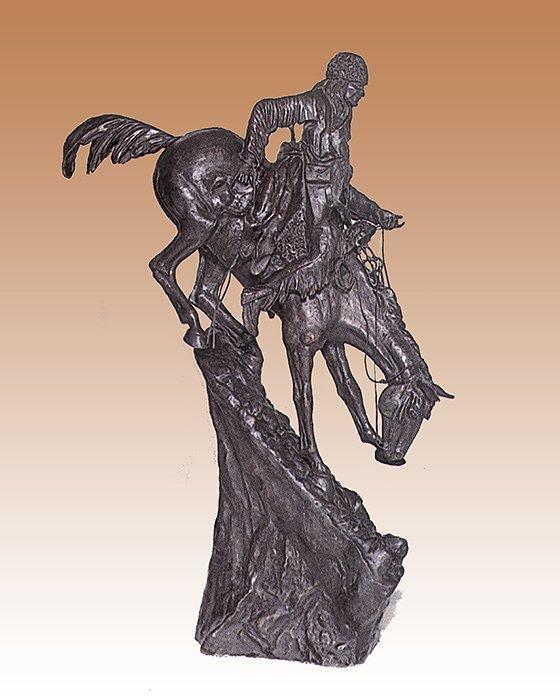 Frederic Remington-Bronze Sculpture-Mountain Man