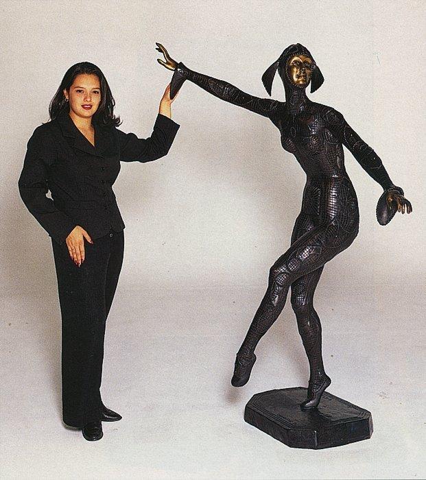 The Dancer II Over 6 Ft Tall Bronze Sculpture-Chiparus