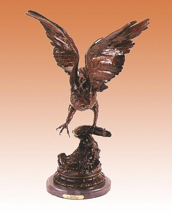 Jules Moiginez-Bronze Sculpture-The Eagle