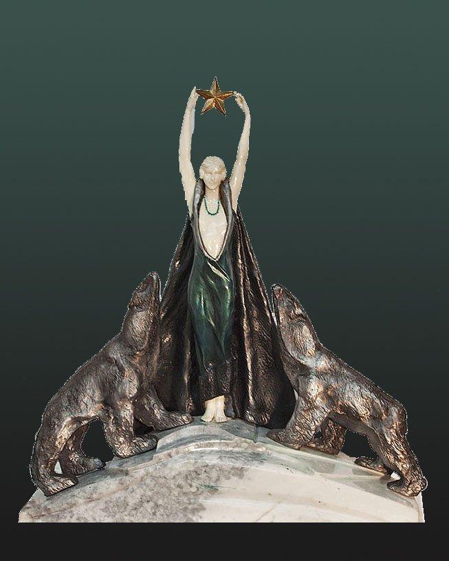 Demetre Chiparus-Bronze Sculpture Nordica