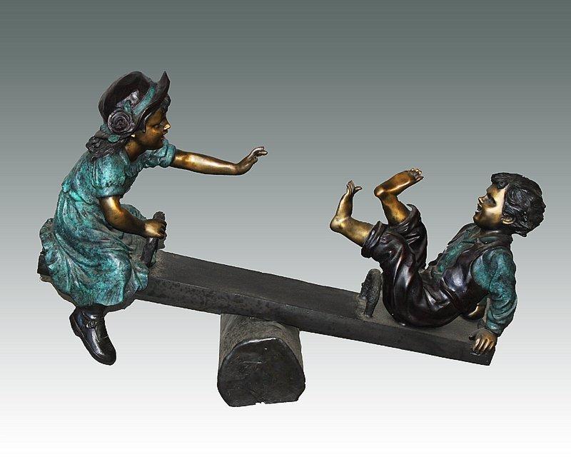 Nardini- Bronze Sculpture- Kids on the Teeter Totter