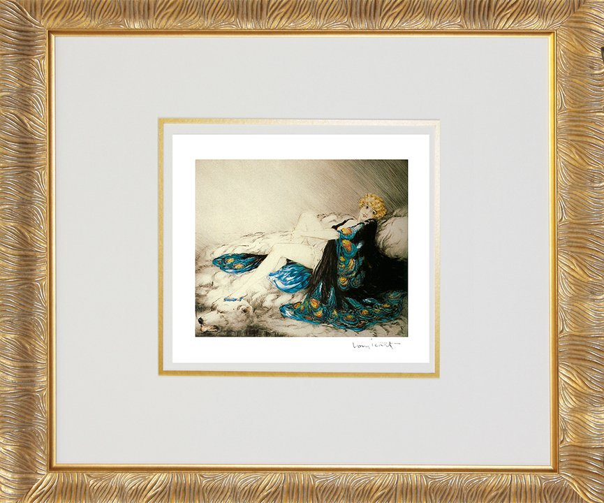 Louis Icart-Limited Edition Giclee-Silk Robe