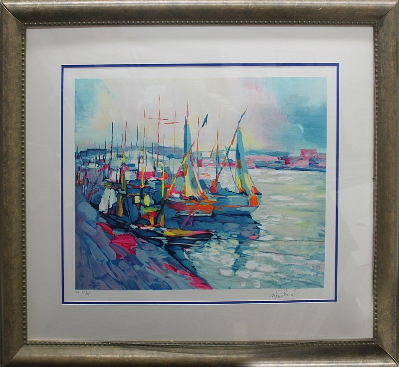 Simbari Limited Edition Lithograph The Harbour