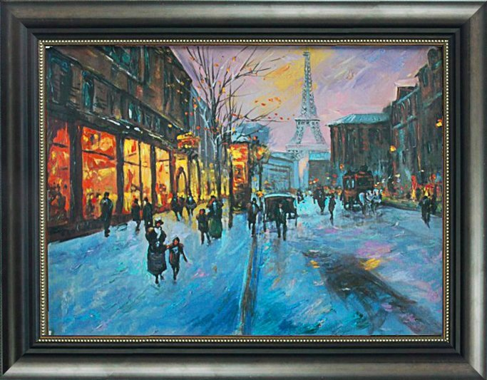 Schofield-Original Mixed Media-Snowtime in Paris