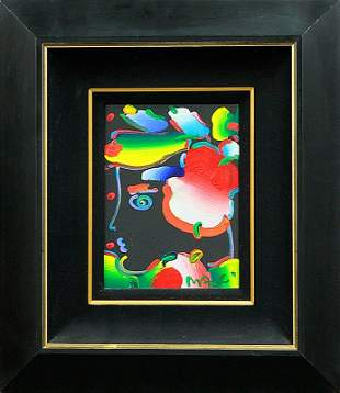 Peter Max -Original Oil Painting-Original Flower