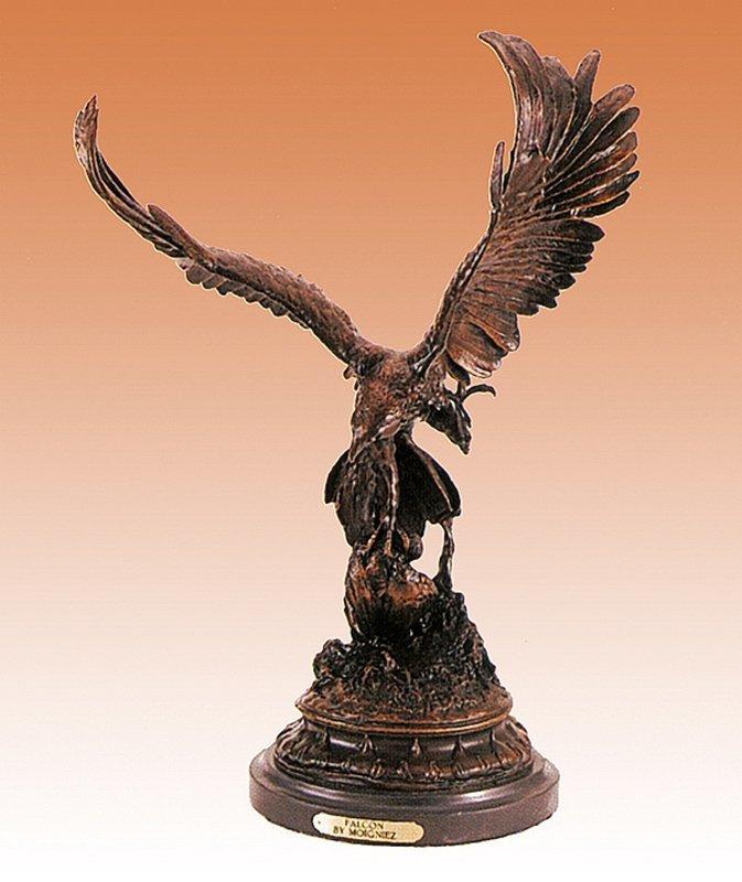 Jules Moigniez The Falcon Bronze Sculpture