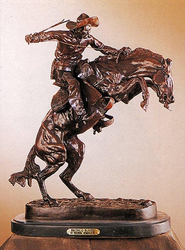 Frederic Remington Bronco Buster Bronze Sculpture
