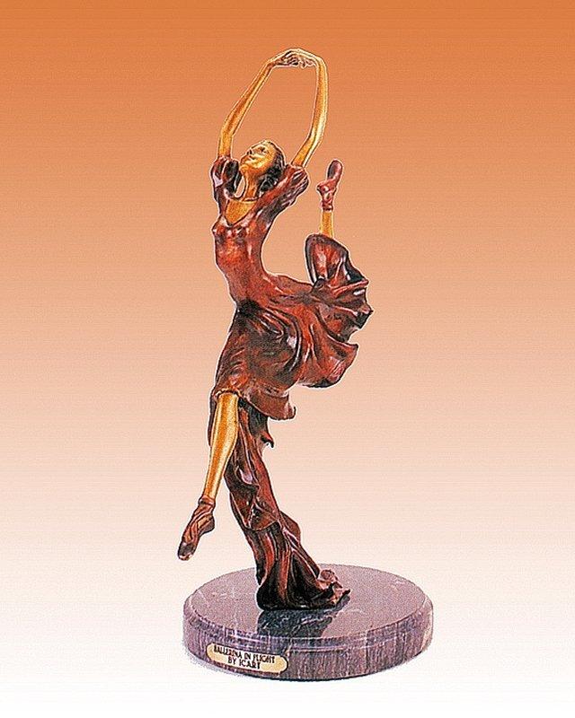 Louis Icart Ballerina in Flight Bronze Sculpture