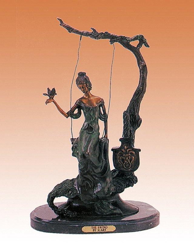 Louis Icart  The Swing Bronze Sculpture