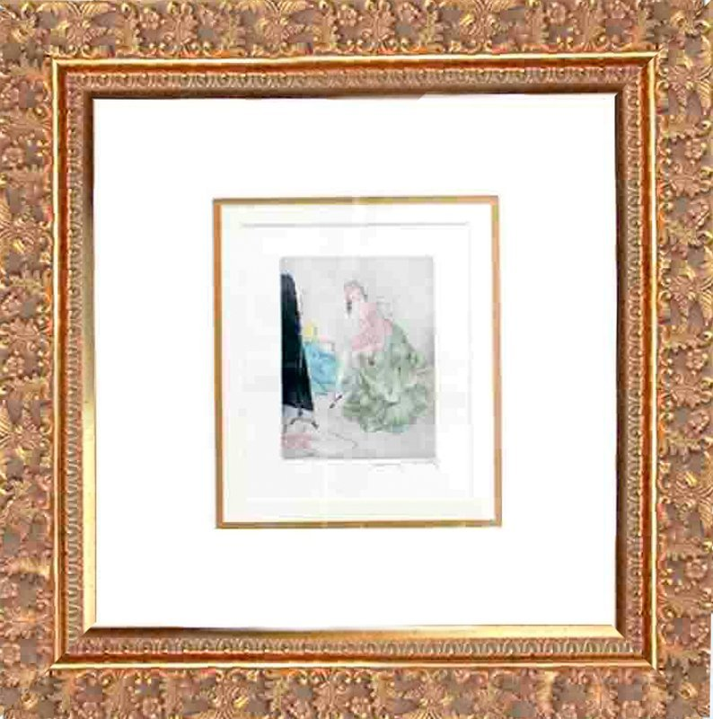 Louis Icart-Etching Hand Signed and Hand Colored