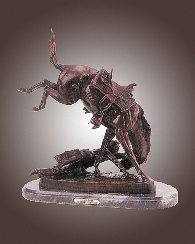 Frederic Remington Big Wicked Pony Bronze Sculpture