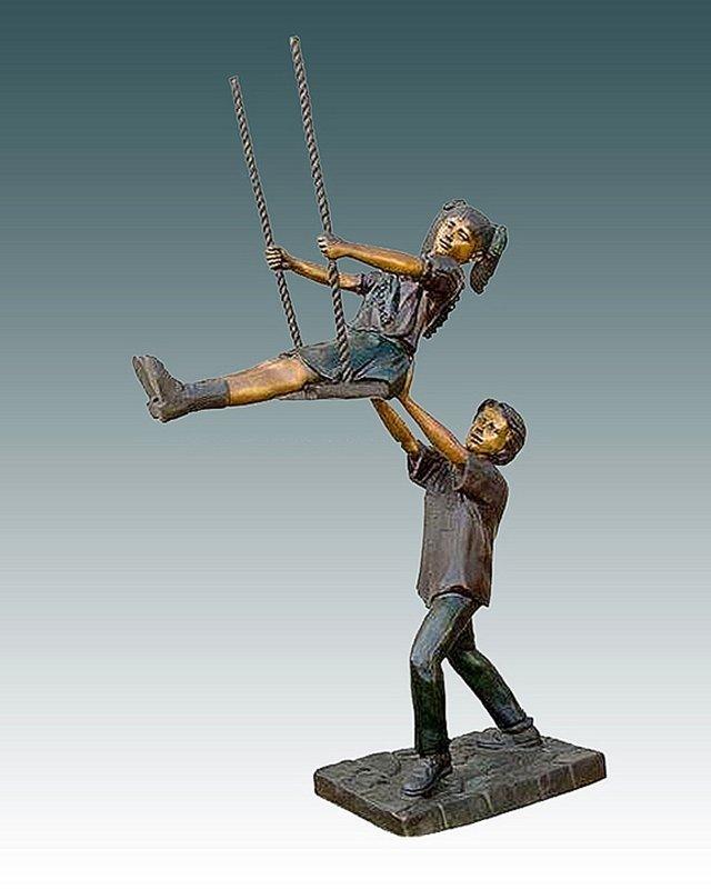 Boy & Girl on the Swing Nardini- 8ft Bronze Sculpture