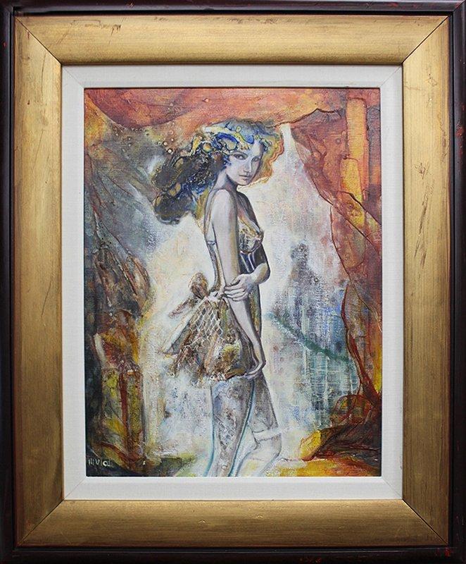 Allura-Original Oil Painting-Warm Summer Night