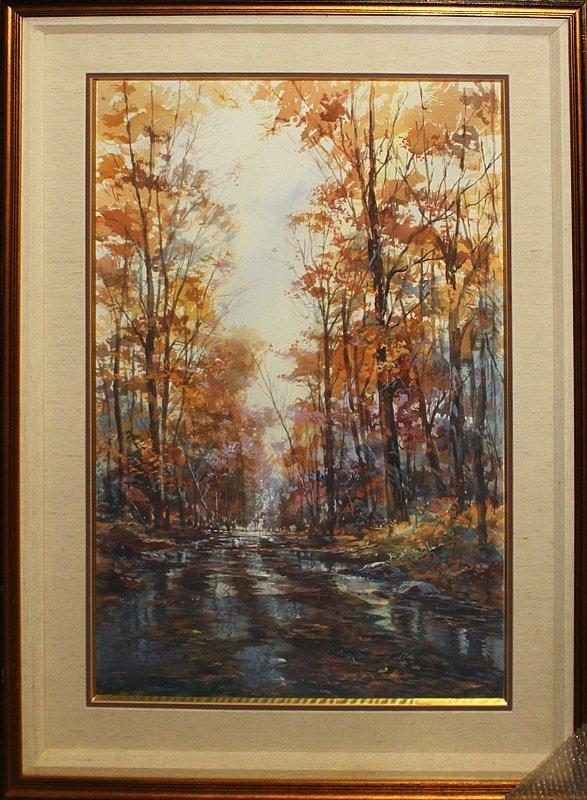 Michael Schofield Original Watercolor Autumn Light