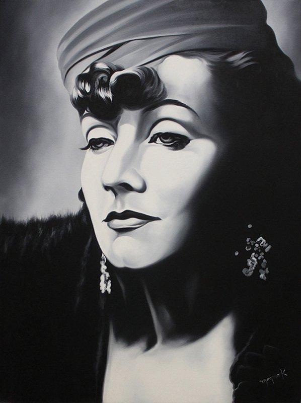 Monroy Original Oil Greta Garbo