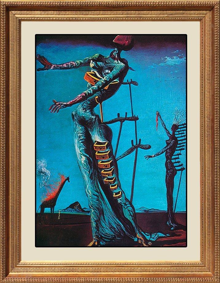 Salvador Dali-Limited Lithograph-The Burning Giraffe