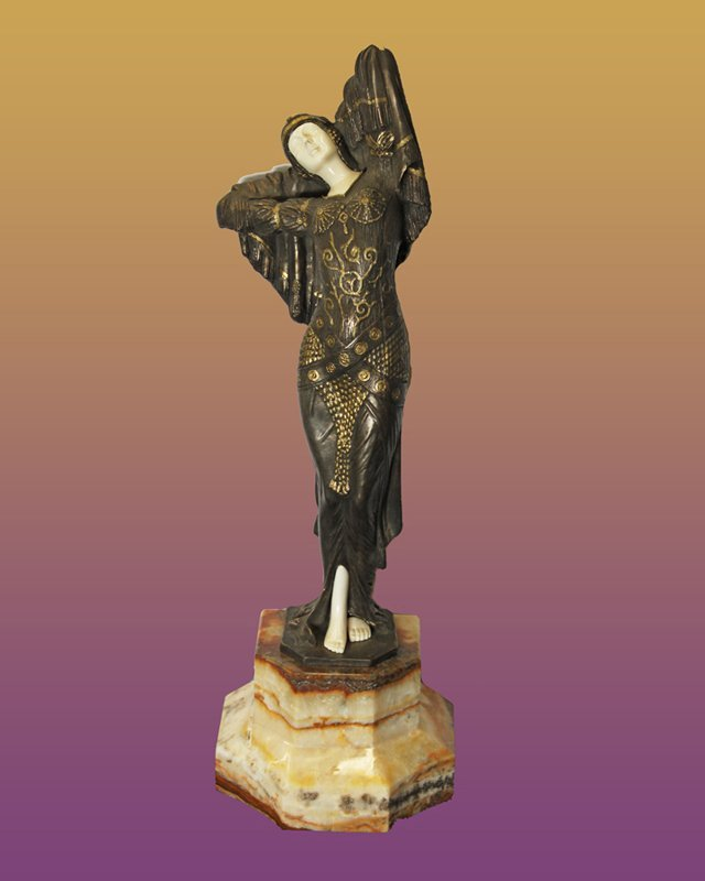 Chiparus Bronze and Ivory Sculpture