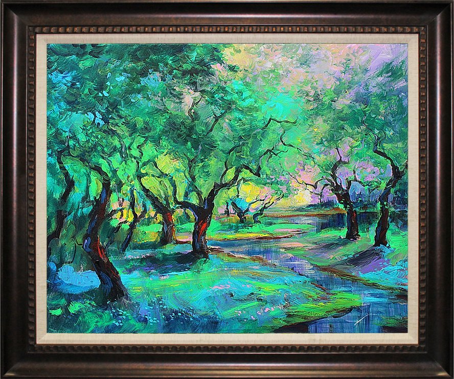 Michael Schofield- Original Oil-Enchanted Woodlands